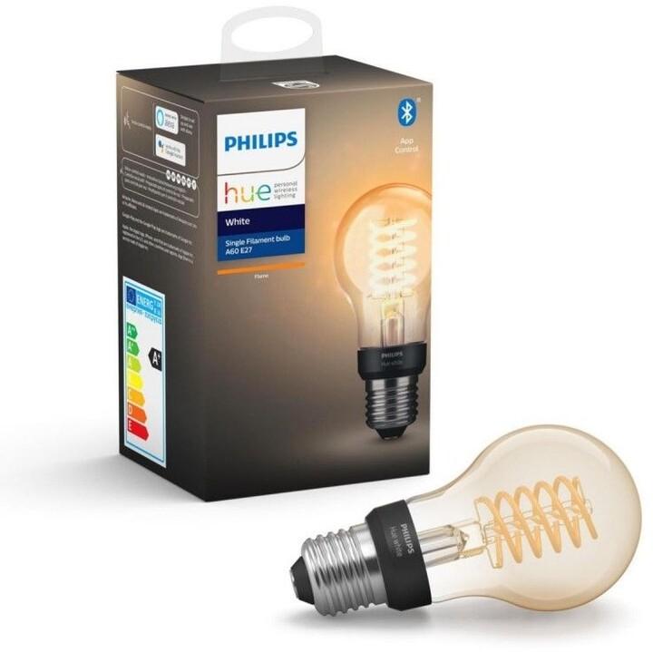 Philips Hue žárovka LED Filament E27 A60 7W 550lm 2100K