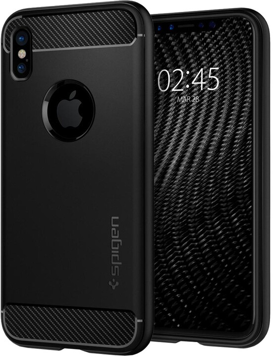 Spigen Rugged Armor iPhone X, black