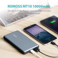ROMOSS MT Pro MT 10 Power Bank, 10000mAh, Gray