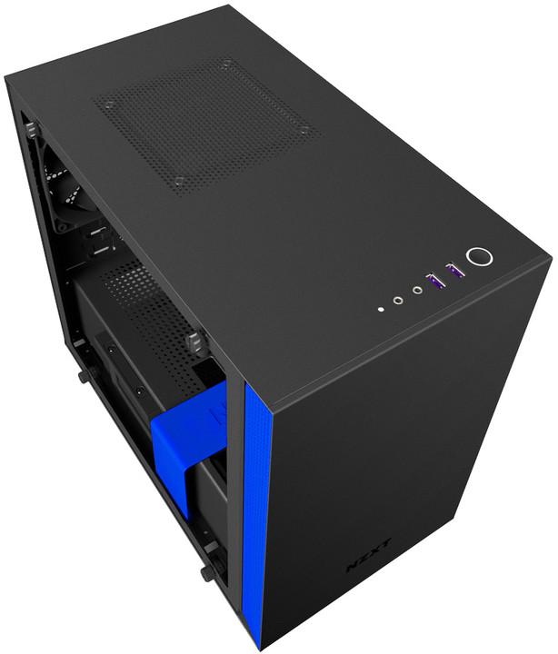 NZXT H200i, Matte Black/Blue