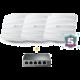 Sada 3 přístupových bodů EAP225 (AC1350) + 5 portový POE switch