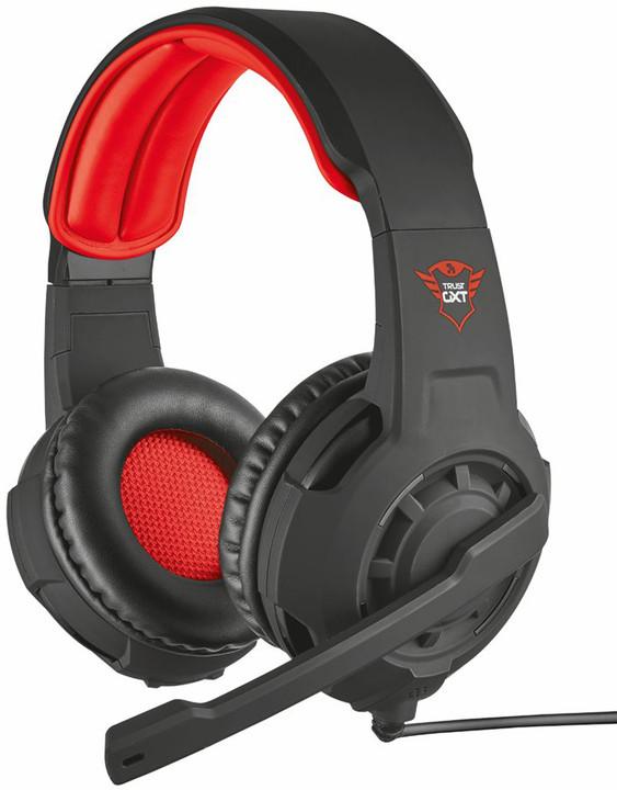 Trust GXT 310, černá/červená