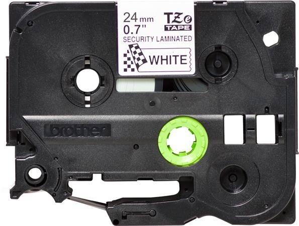 Brother TZE-SE5, bílá/černá, 24mm