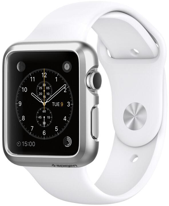 Spigen Thin Fit, satin silver - Apple Watch 38mm