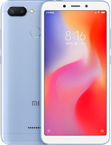 Xiaomi Redmi 6 Dual 64GB, modrý