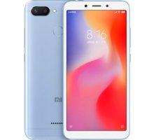 Xiaomi Redmi 6 Dual, 4GB/64GB, modrý  + 500Kč voucher na ekosystém Xiaomi + Při nákupu nad 3000 Kč Kuki TV na 2 měsíce zdarma vč. seriálů v hodnotě 930 Kč