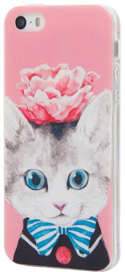 EPICO pružný plastový kryt pro iPhone 5/5S/SE CAT&ROSES