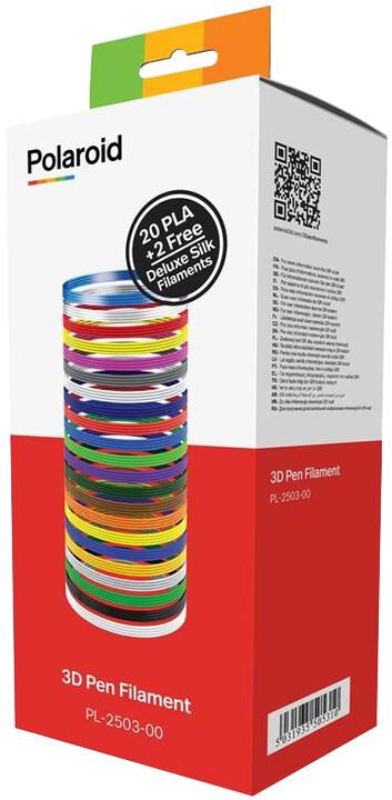 Polaroid 3D Náplně 20 PLA barev + 2 Deluxe Silk