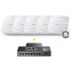 Sada 5 přístupových bodů EAP225 (AC1350) + HW kontroler + 8 portový POE switch