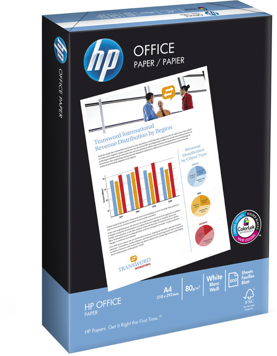 HP Office, A4, 80g/m2, 500 listů