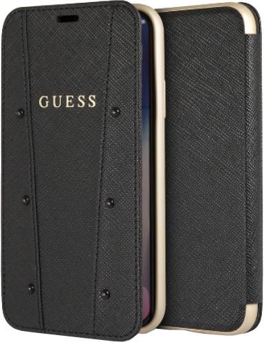 GUESS Kaia Book Case PU pro iPhone X, černé