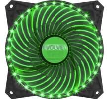 Evolveo ventilátor 120mm, LED 33 bodů, zelený