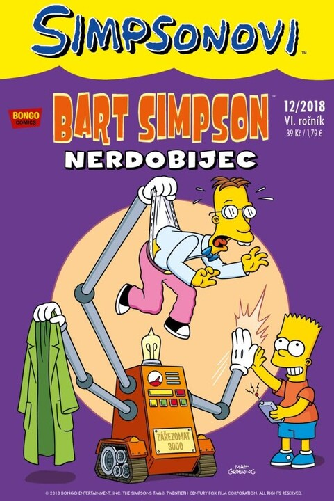 Komiks Bart Simpson: Nerdobijec, 12/2018