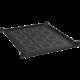 """Solarix police 19"""", 1U, 550mm pevná, úchyt na přední i zadní lišty UP-15"""