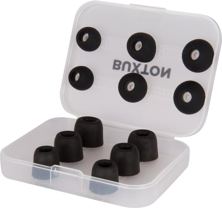 BUXTON náhradní koncovky pro sluchátka, černá