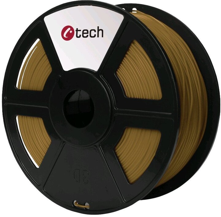 C-TECH tisková struna (filament), PLA, 1,75mm, 1kg, hnědá