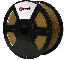 C-TECH tisková struna (filament), PLA, 1,75mm, 1kg, hnědá - 3DF-PLA1.75-BR