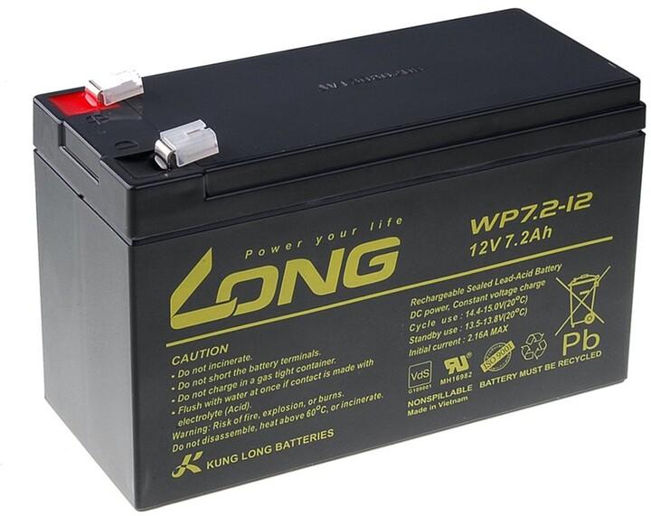 Avacom baterie Long 12V/7,2Ah, olověný akumulátor F2
