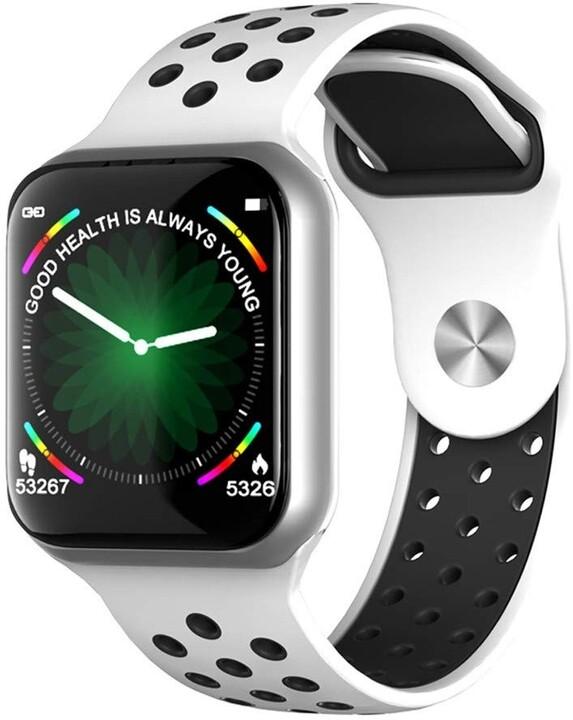 IMMAX chytré hodinky SW13 PRO, bílo-stříbrné