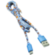 MIZOO USB/ micro USB kabel X5, modrý
