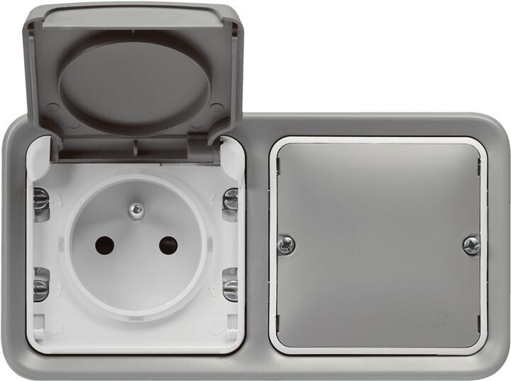 Legrand chytrá zásuvka Plexo With Netatmo, spínací, šedá
