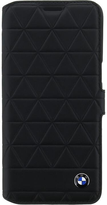 BMW Hexagon kožené pouzdro typu kniha pro Samsung G950 Galaxy S8, černé