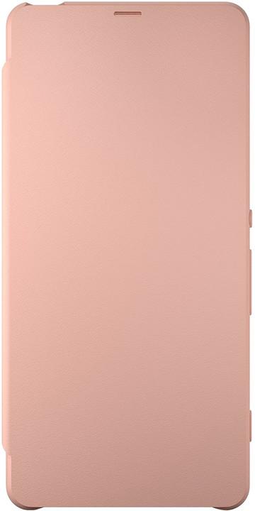 Sony SCR54 Style Cover Flip Xperia XA, růžová/zlatá