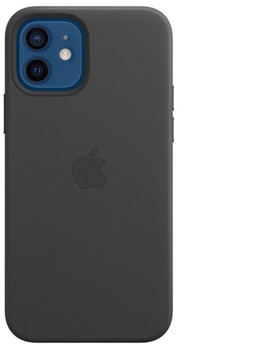 Apple kožený kryt s MagSafe pro iPhone 12/12 Pro, černá