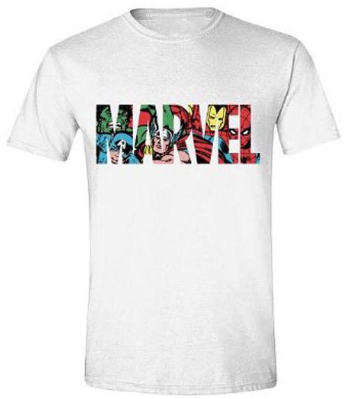 Tričko Marvel Comics - Logo Character Infill (L)