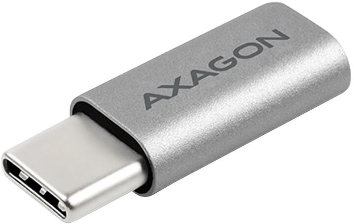 AXAGON RUCM-MFA, USB Type-C Male > Micro USB Female ALU redukce