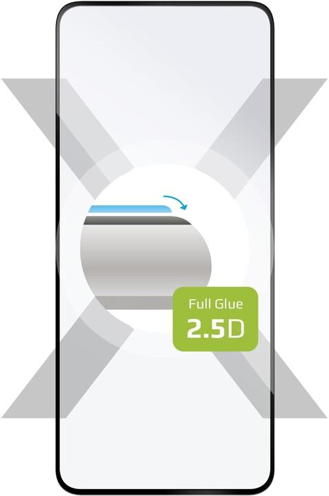 FIXED ochranné tvrzené sklo pro Oppo A52, Full-Cover, černá