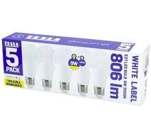 TESLA LED žárovka BULB E27, 9W, 3000K, teplá bílá, 5ks v balení - BL271030-5PACK