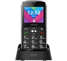 myPhone Halo C Senior, Black s nabíjecím stojánkem - TELMYSHALOCBK