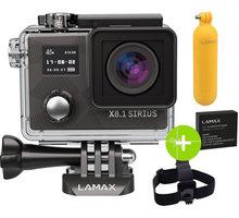 LAMAX X8.1 Sirius  + Čelenka, plovoucí ruční držák a náhradní baterie v ceně 1350 Kč