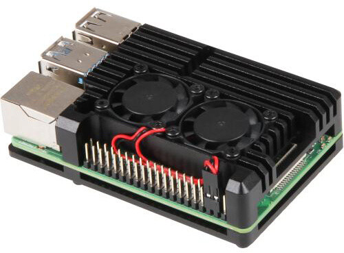 Raspberry Armor Fan pro Raspberry Pi 4 B, černá
