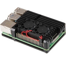 Raspberry Armor Fan pro Raspberry Pi 4 B, černá - RB-AlucaseP4+07FAN
