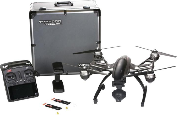 YUNEEC kvadrokoptéra - dron, Q500 4K TYPHOON s kamerou C-GO3-4K RTF, SteadyGrip a trolly kufrem