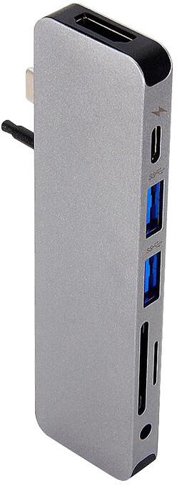 HYPER solo USB-C Hub pro MacBook & ostatní USB-C zařízení, šedá