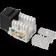 Solarix zařezávací keystone CAT5E UTP RJ45 černý svorkovnice 90° SXKJ-5E-UTP-BK-90