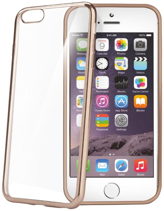 CELLY Laser - lemování s kovovým efektem TPU pouzdro pro Apple iPhone 6 Plus/6S Plus, zlatá