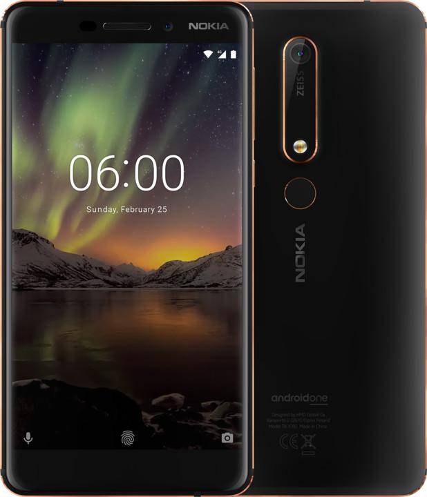 Nokia 6.1 2018, Dual Sim, 32GB, černá