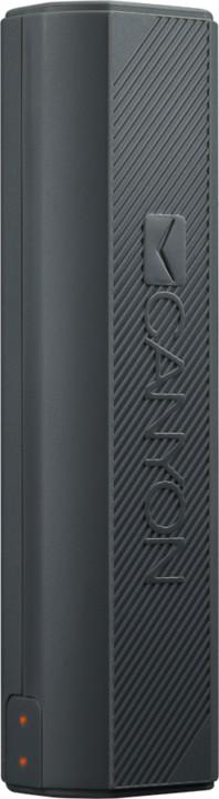 Canyon powerbanka 2600 mAh, kompaktní, tmavě šedá