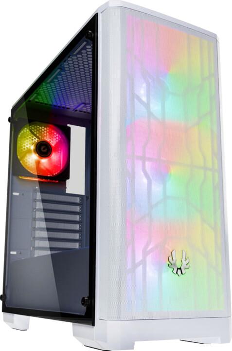 BITFENIX Nova Mesh TG A-RGB, Tempered Glass, bílá