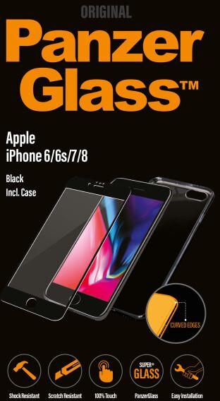 PanzerGlass Premium pro Apple iPhone 6/6s/7/8 černé matné + pouzdro