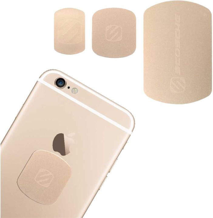 Scosche magicMOUNT Plate výměnné magnety pro magnetické držáky, zlatá