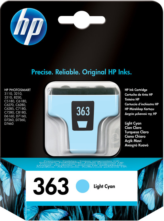 HP C8774EE, no.363, světle modrá