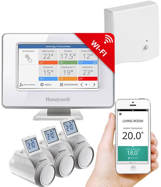 Honeywell Evohome Starter Set CZ, Evohome Touch WiFi + 3x termohlavice + BDR91, +5% ErP 8