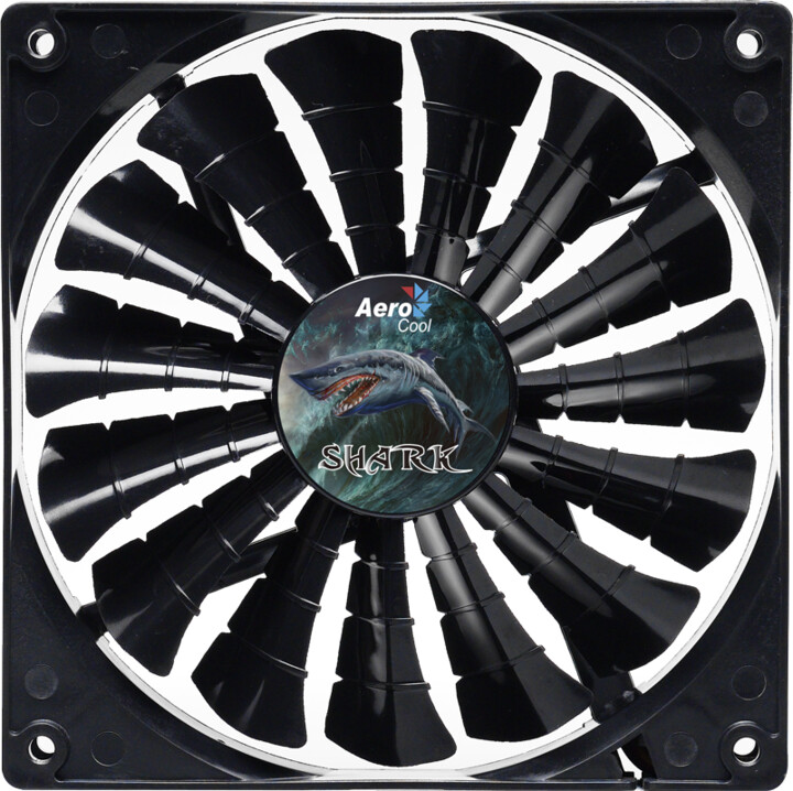 AeroCool Shark Fan, 140 mm, evil black