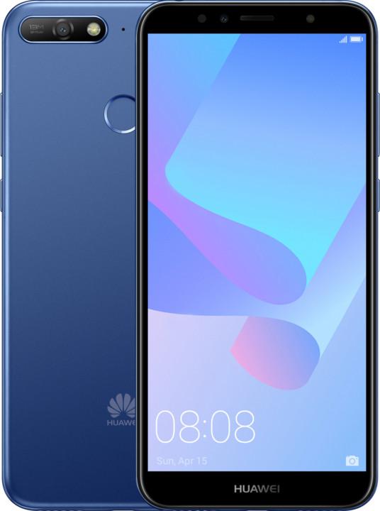 Huawei Y6 Prime 2018, modrý