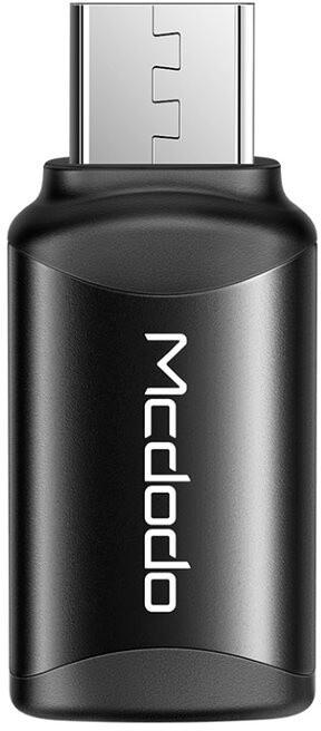 Mcdodo adaptér USB-C - microUSB, černá